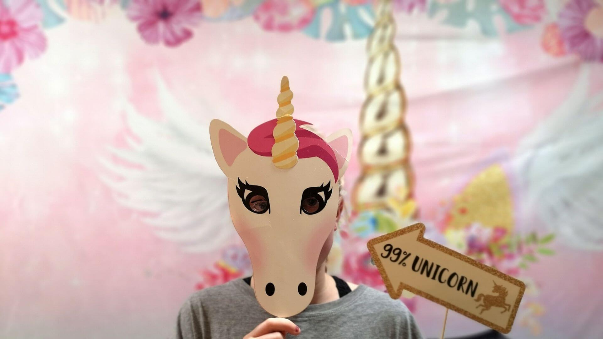 Unicorn photo booth