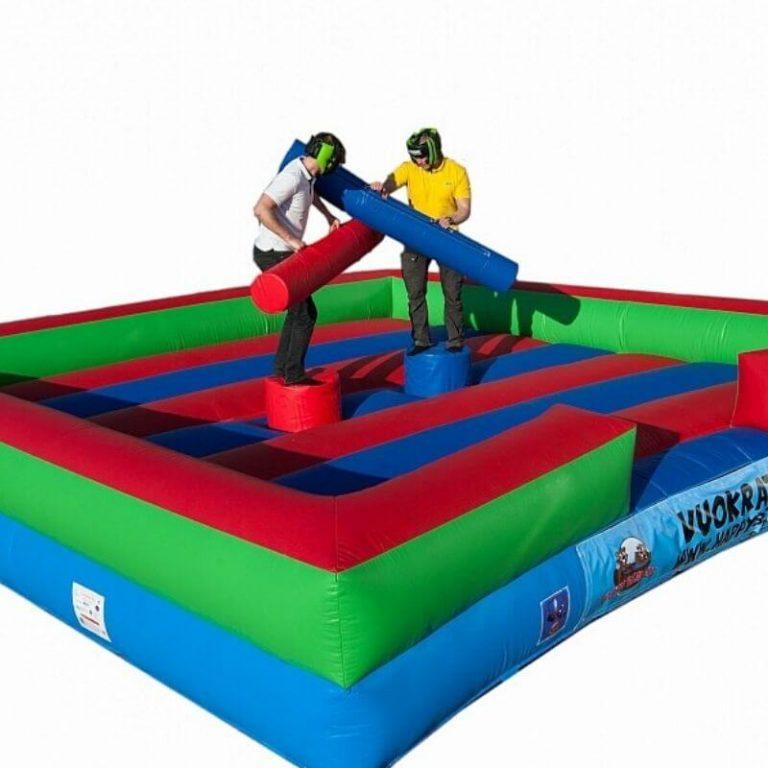 Gladiator - hauska ja turvallinen aktiviteetti. Lisää tuotteita VUOKRAUS-valikosta.