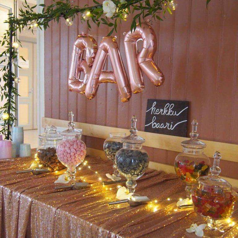 vauvajuhlat tarjoilut ja koristeet