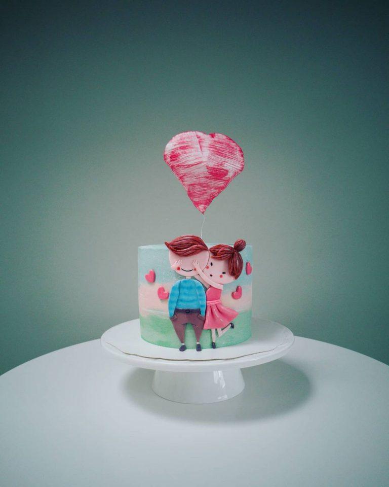Ystävänpäivän täytekakku 💓 Cappuccino cake ☕ Yksi parhaista🏆 #vohvelisydän