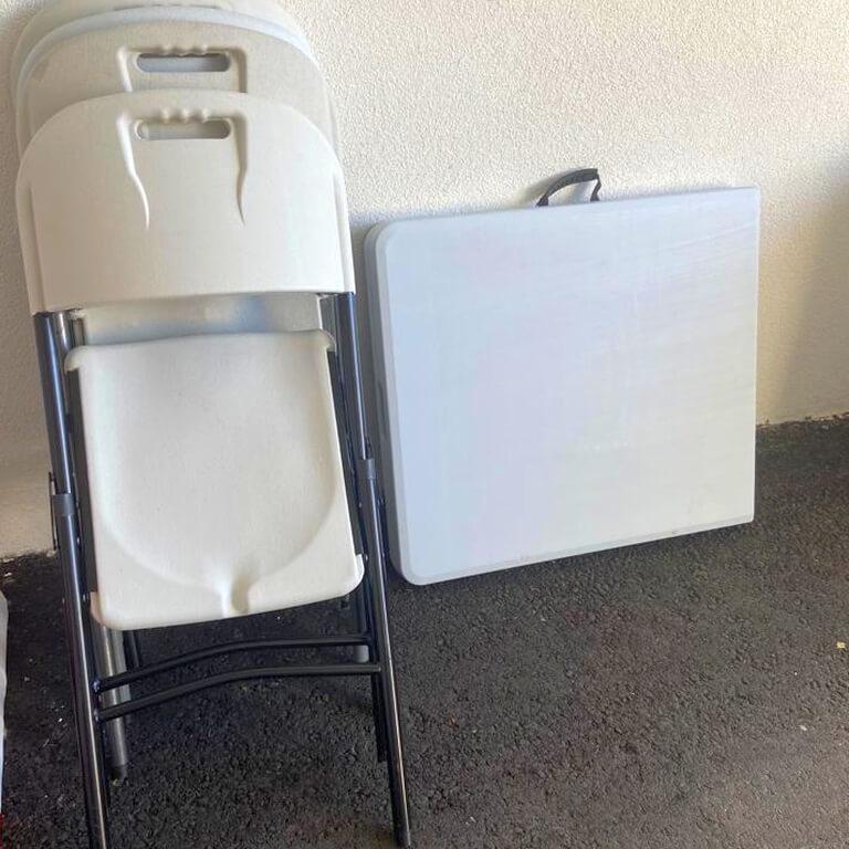 pöytien ja tuolien vuokraus